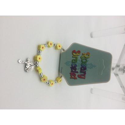 Yellow Rosary Braclet