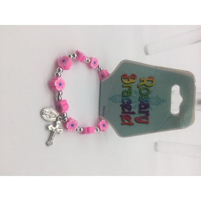 Pink Rosary Braclet