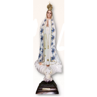 "Our Lady of Fatima 17.5"" Blue Ornamentation Made in Portugal"