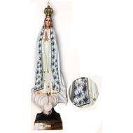 "Our Lady of Fatima 21.5"" Blue Ornamentation Made in Portugal"