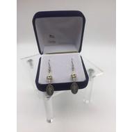 Miraculous Medal Earrings, Crystal