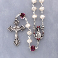 Pearl Ruby Rosary