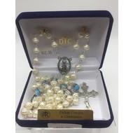 Pearl Aqua Rosary