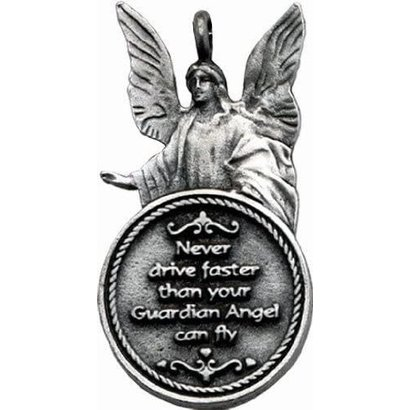 Rearview Mirror Ornament Never Drive Faster Angel