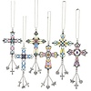 Stain Glass Cross Ornament