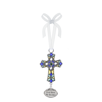 Cross Ornament- God Bless My Brother