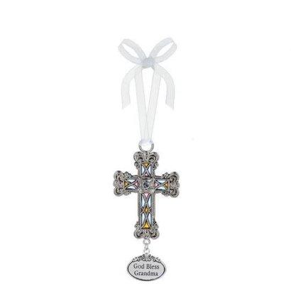 Cross Ornamnet- God Bless Grandma