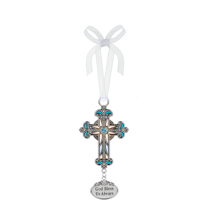 Cross Ornament- God Bless us Always