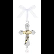 God Hears Our Prayers- Cross Ornament