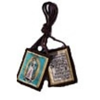 O.L of Guadalupe Brown Scapular with Crucifix