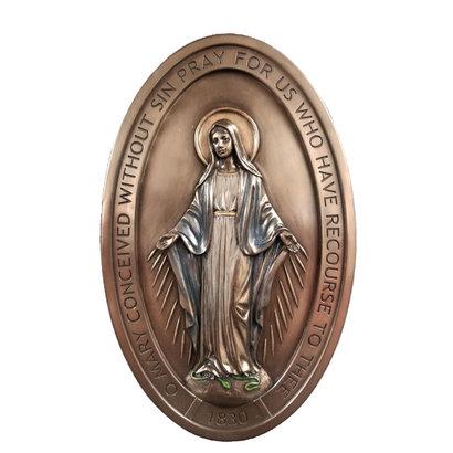 Miraculous Medal Plaque, 5x8