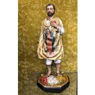 St. Juan Diego Statue, Made in Colombia, Hand Painted