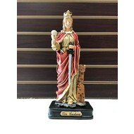 St. Barbara Large Statue, Hand Painted, Made in Colombia