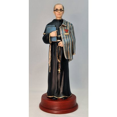 St. Maximilian Kolbe, Hand Painted, Made in Colombia
