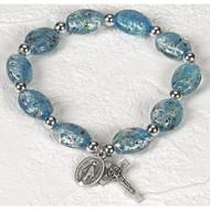 Imitation Murano Oval Glass Beads