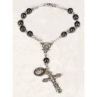 Auto Rosary Hematite beads 8 mm