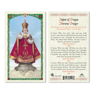 Infant of Prague Novena Prayer Laminated Holy Card, Printed in Italy