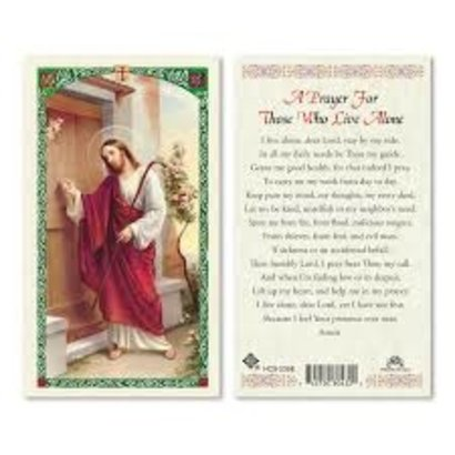 A Prayer for Those who Live Alone Laminated Holy Card, Printed in Italy