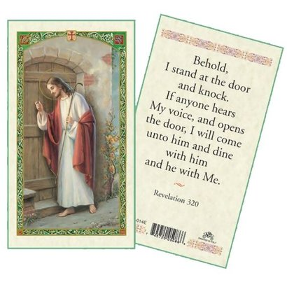 Revelation 320 Laminated Holy Card, Printed in Italy