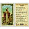 Footprints Laminated Holy Card, Printed in Italy