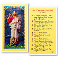 The 10 Commandments of God Holy Card, Printed in Italy