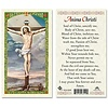 Anima Christi Laminated Holy Card, Printed in Italy