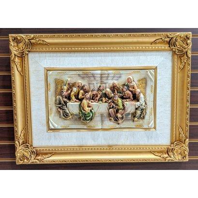 Framed Last Supper, 21.5x29.5