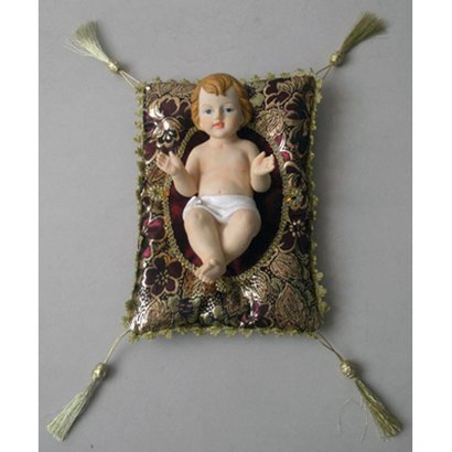 Baby Jesus with Cushion, 8""