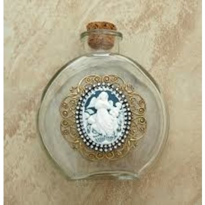 Holy Water Bottle Vintage Angel Cameo