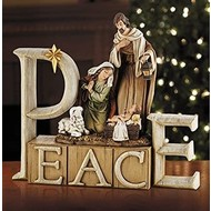 Peace Nativity, 8.25""