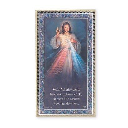 Divine Mercy Plaque, 5x9, Spanish