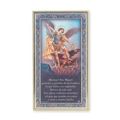 St. Michael Plaque, 5x9, Spanish