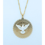 "Brazilian Necklace, Holy Spirit, 20"" Chain"