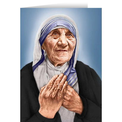 Mother Theresa Blank Card
