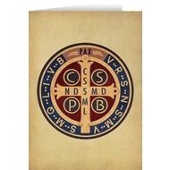 Blank Greeting Card: Benedictine Medal