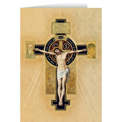 Benedictine Cross Greeting Card