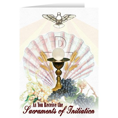Greeting Card - Eucharist RCIA Greeting Card