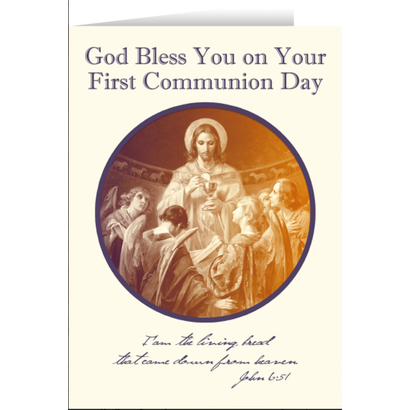 Catholic  Greetings Cards: First Holy Communion