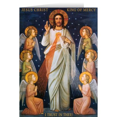 King of Mercy Greeting Card