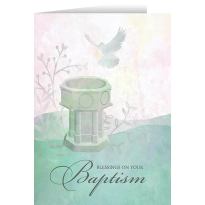 Blessings On Your Bpatism Greeting Card
