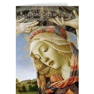 Blank Greeting Card: Madonna of the Magnificat