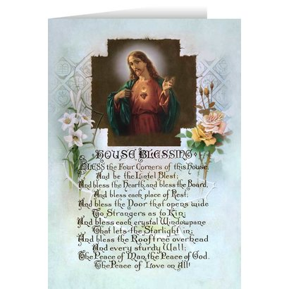 House Blessing Blank Greeting Card