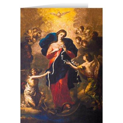 Mary Undoer of Knots Blank Greeting Card