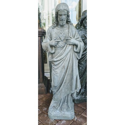 """Sacred Heart of Jesus, Outdoor, Concrete, 36"""", Various Finishes"""