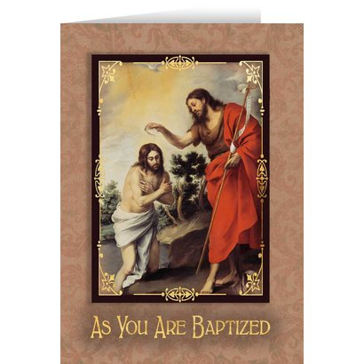 As You are Baptized Greeting Card