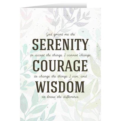 Serenity, Courage, Wisdom Greeting Card