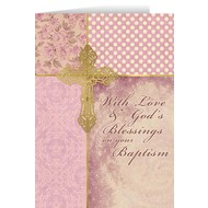 Baptism Granddaughter Greeting Card