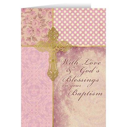 Baptism Granddaughter Greeting Card