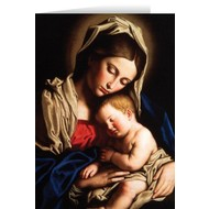 Madonna & Child Blank Greeting Card
