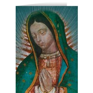 Our Lady Of Guadalupe Detail Blank Greeting Card